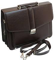 Классический мужской портфель из эко кожи AMO Коричневый (SST11 brown)
