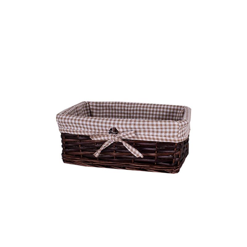 Корзина для белья плетеная темно - коричневая AWD02241591