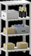 250х70х30 4 полки 100 кг на полку Стеллаж для архива склада металлический крашенный Серый цвет