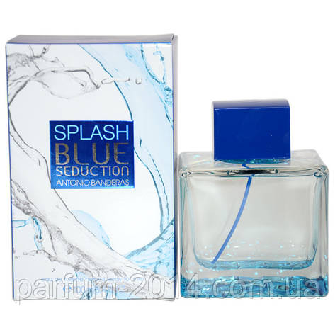 Мужская туалетная вода Antonio Banderas Splash Blue Seduction for Men  (реплика), фото 2