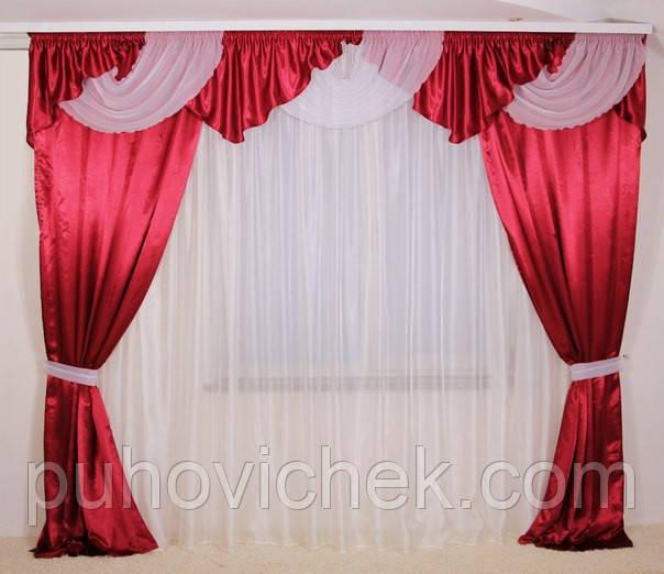 Готовые шторы с ламбрекеном недорого