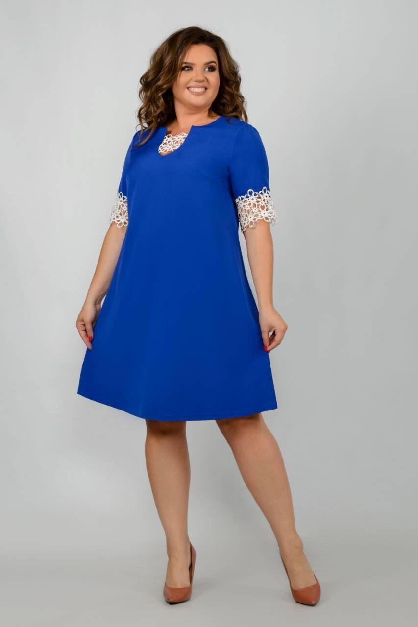 """Стильное женское платье ткань """"Костюмная"""" 48, 50, 52, 54, 56 размер батал"""