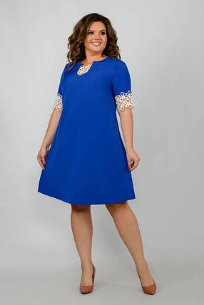 """Стильное женское платье ткань """"Костюмная"""" 48, 50, 52, 54, 56 размер батал, фото 2"""