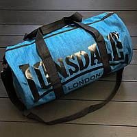 Недорогая спортивная сумка Lonsdale синего цвета