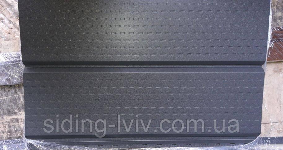 Софіт для підшики даху з металу матовий ArcelorMittal Німеччина товщина 0,5 мм ГРАФІТ
