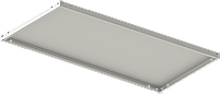 200х70х60 5 полок 100 кг на полку Стеллаж для архива склада металлический крашенный Серый цвет, фото 3