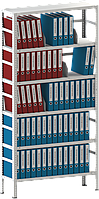 200х100х40 6 полок 120 кг на полку Стеллаж для архива склада металлический крашенный Серый цвет, фото 1
