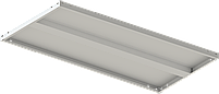 200х100х50 6 полок 150 кг на полку Стеллаж для архива склада металлический крашенный Серый цвет, фото 5