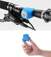Электронный велосипедный звонок RockBros BuzZzze Голубой (6060103), фото 2