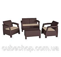 Комплект садовой мебели из искусственного ротанга Bahamas Keter (коричневый)