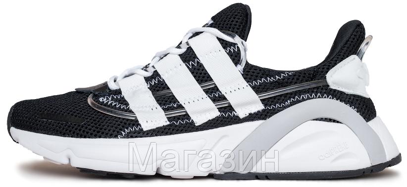 """Мужские кроссовки adidas LXCON Future """"Black / White"""" Адидас Лексикон черные с белым"""