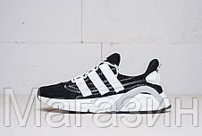 """Мужские кроссовки adidas LXCON Future """"Black / White"""" Адидас Лексикон черные с белым, фото 2"""