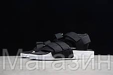 Мужские сандалии Adidas Adilette Sandal 2.0 Black White (Адидас) черные, фото 2