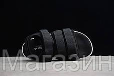 Мужские сандалии Adidas Adilette Sandal 2.0 Black White (Адидас) черные, фото 3