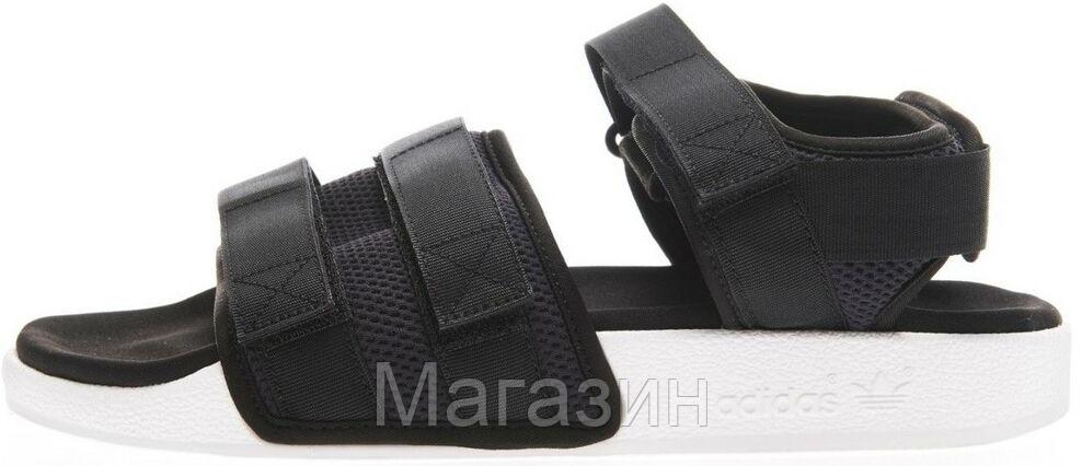 Женские сандалии Adidas Adilette Sandal 2.0 Black White (Адидас) черные