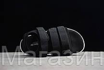 Женские сандалии Adidas Adilette Sandal 2.0 Black White (Адидас) черные, фото 3