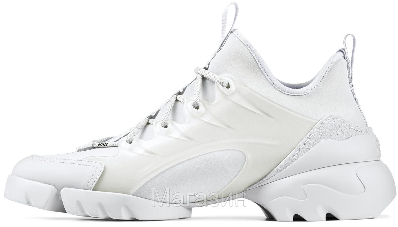 Женские кроссовки Dior D-Connect White (в стиле Диор) белые