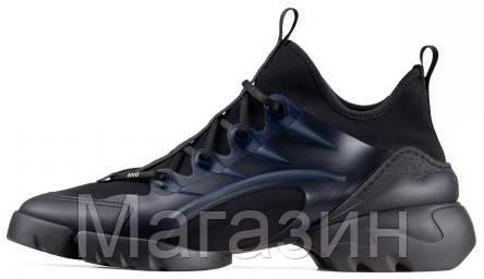 Женские кроссовки Dior D-Connect Black (Диор) черные
