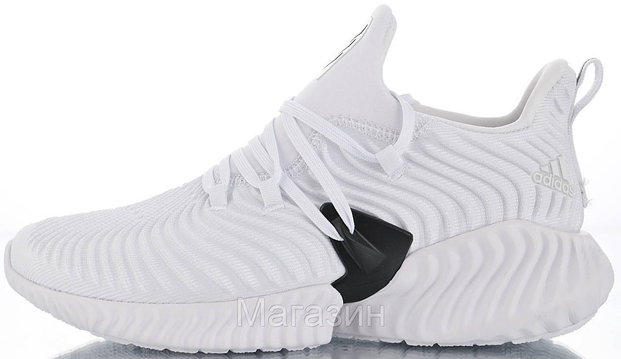 """Мужские кроссовки adidas Alphabounce Instinct """"White"""" (Aдидас) белые"""