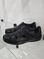 Туфлі GoErgo чоловічі шкіряні чорні.