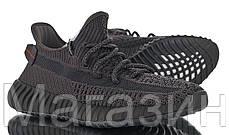 """Женские кроссовки adidas Yeezy Boost 350 V2 """"Triple Black"""" (в стиле Адидас Изи Буст 350) черные, фото 2"""