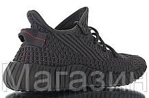 """Женские кроссовки adidas Yeezy Boost 350 V2 """"Triple Black"""" (в стиле Адидас Изи Буст 350) черные, фото 3"""