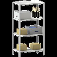 200х70х40 4 полки 100 кг на полку Стеллаж для архива склада металлический крашенный Серый цвет, фото 1
