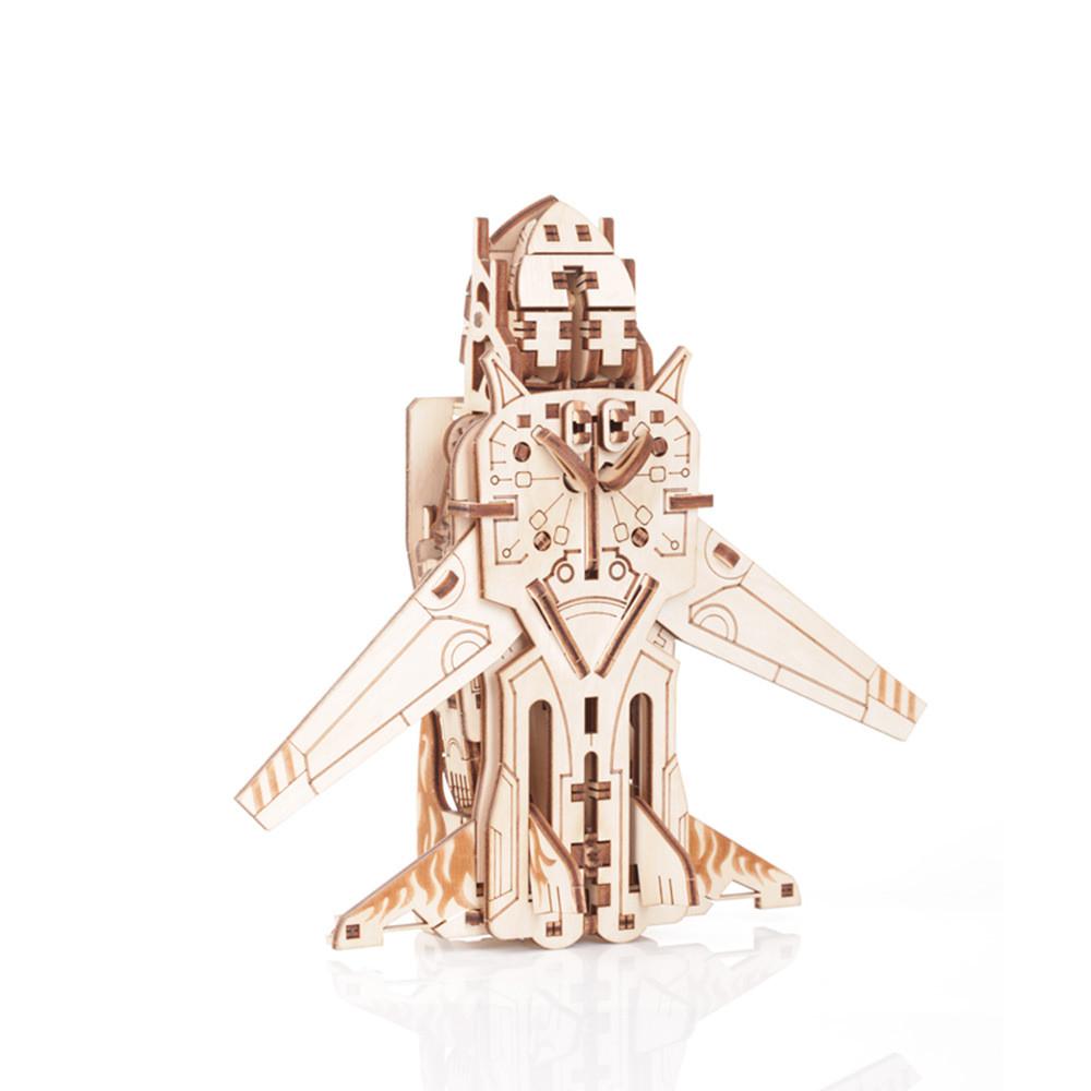 Механический 3D пазл Трансформер Робот-самолёт