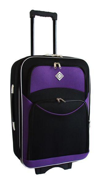 Дорожный чемодан на колесах Bonro Style Черно-фиолетовый Средний