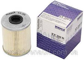 Топливный фильтр на Рено Лагуна II 1.9dci F9Q, 2.2 G9T h=92мм / MAHLE KX206D
