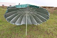Зонт диаметром 3 м с клапаном, 16 спиц. Пластиковые спицы. Серебренное покрытие. Цвет: Зеленый