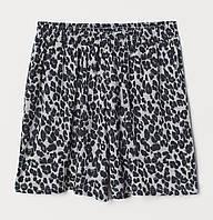 Серые шорты с леопардовым принтом для девочки, H&M, 0702527001