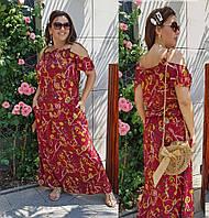 Длинное женское летнее платье размер 60-64 Г04085/1, фото 1