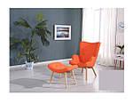 Кресло Флорино с отоманкой, оранжевый, бук, фото 3