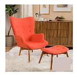 Кресло Флорино с отоманкой, оранжевый, бук, фото 2