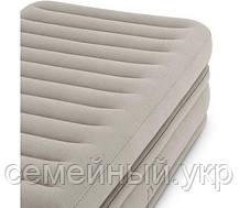 Надувная кровать. Размер 191х99х51 см. Электронасос 220В.  Нагрузка 136 кг. intex 64444, фото 3