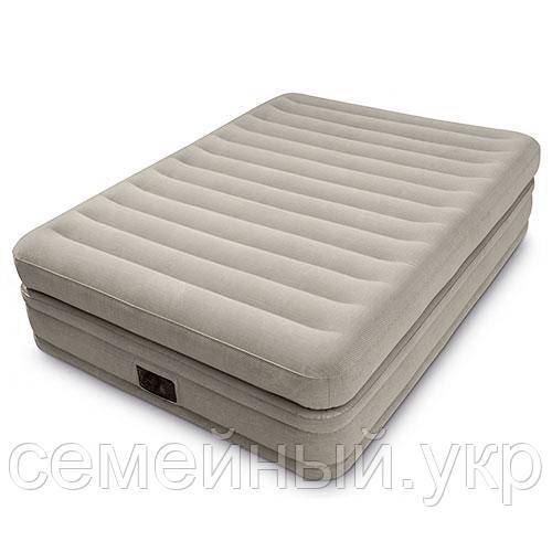 Надувная кровать. Размер 191х99х51 см. Электронасос 220В.  Нагрузка 136 кг. intex 64444