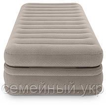 Надувная кровать. Размер 191х99х51 см. Электронасос 220В.  Нагрузка 136 кг. intex 64444, фото 2