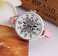 Наручные часы с бабочкой Fly pink