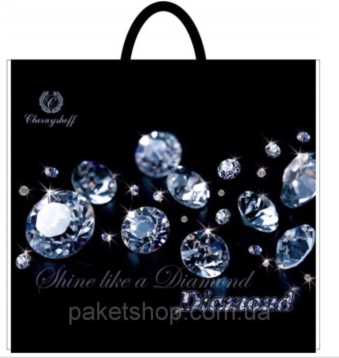 Полиэтиленовый пакет с пластиковой ручкой (сумка) ''Бриллиант'' 380*340, 10 шт