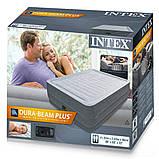 ✅Надувная кровать Intex 64418, 152 х 203 х 56 , встроенный электронасос. Двухспальная, фото 3
