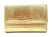 Женский кожаный, качественный кошелек Cardinal Золотистый, Новинка