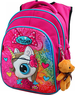 Рюкзак школьный для девочек Winner Stile 8060, фото 2