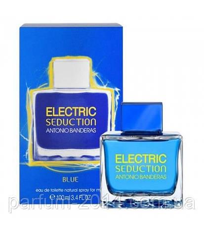 Мужская туалетная вода Antonio Banderas Electric Seduction Blue For Men ( Антонио Бандерас Электрик Седакшн ), фото 2