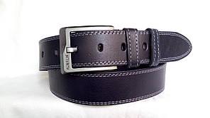 Стильний джинсовий ремінь  45 мм,синій прошитий білою  подвійною  ниткою