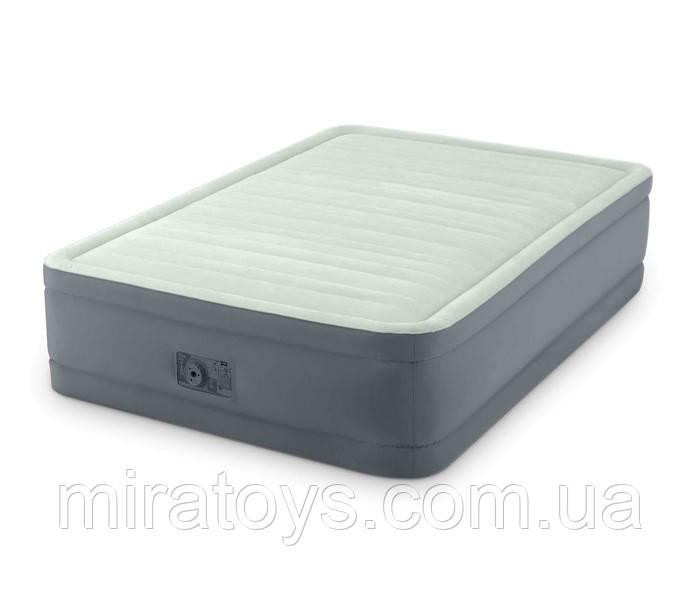 ✅Надувна ліжко Intex 64904, 137 х 191 х 46 , вбудований електронасос. Півтораспальне
