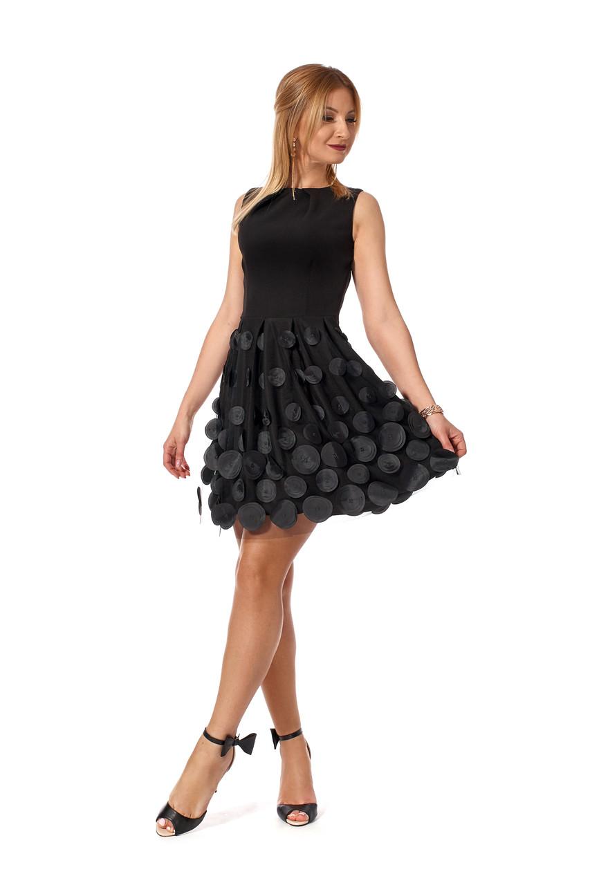 Коктельное женское платье №1168 (черный)