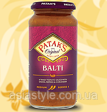 Карі паста, Балті, Pataks, Balti,  283г, Дж