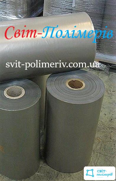 Полотно полиэтиленовое вторичное 2с СЕРОЕ - 450 мм, 100 мкм, 600 м.п.
