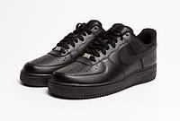 Кросовки Nike Air Force чорные низкие